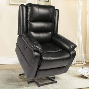 Esright Power Lift Chair Electric Recliner Wall Hugger PU Leather