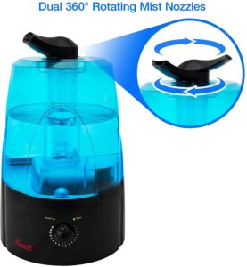 Rosewill Ultrasonic Cool Mist Humidifier: Best Bedroom Filter Free Unit