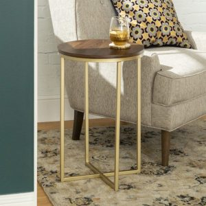 WE Furniture AZF16ALSTDWG Wood Side Table