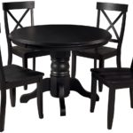 Classic Black 5 Piece Round Dining Set