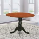 East West Furniture DLTBCHTP Round Table