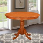 East West Furniture HLTCHRT Round Table