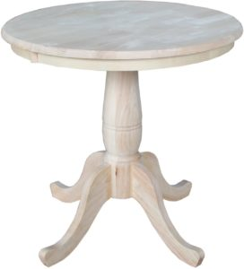 International Concepts Round Top Pedestal Table