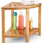 Bamboo Corner Stool Bench Perfect for Indoor or Outdoor