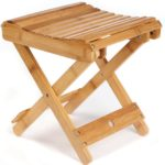 ETECHMART Folding Bamboo Shower Bench Heavy Duty