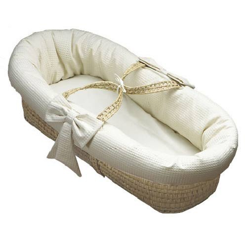 Baby Doll Bedding Pique Moses Basket