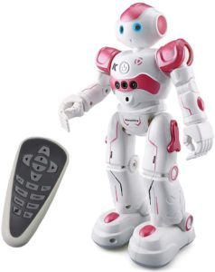 Threeking Smart Robot Toys: Gesture-Control Remote-Control Robot JJRC Robot Gift For Girls- pink