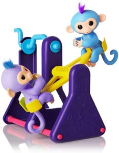 WowWee Fingerlings Playset – See-Saw with 2 Baby Monkey Toys