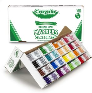 Crayola Broad Line Markers Bulk, Multi-Purpose 16 Bold Colors in 256 Count