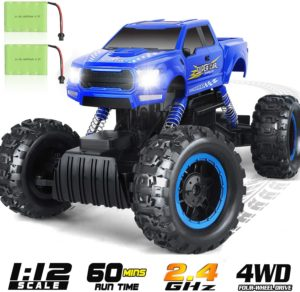 14. DOUBLE E RC Car Four-Wheel Drive Rechargeable Monster Truck
