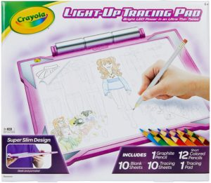 Crayola Light-Up Tracing Pad Pink, Amazon Exclusive, Gift, Toys for Girls