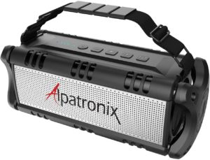 5. Photive M90 Portable Waterproof Bluetooth Speaker with Built In Subwoofer