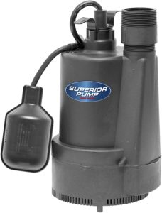 Superior 92330 1/3 HP Thermoplastic Submersible Sump Machine