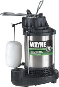 WAYNE CDU980E 3/4 HP Submersible Cast Iron and Stainless Steel