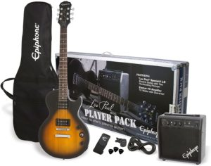 10. Epiphone PPEG-EGL1VSCH1 Les Paul Electric Guitar Player Package