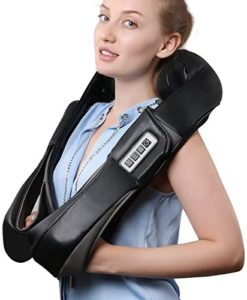 "8. Belmint Shiatsu Massager for Shoulder and Neck  Prolong muscle treatment for weeks after fatigue at work each day can lead to severe long-run muscle complications. Scientists knew this, and that's why they've invented different massages tools for people to choose the one that is needful on time.  Belmint Shiatsu for neck and shoulder massaging comes featuring heating solution to warm up muscles to relax you calmly. If you have been feeling stressful pain around your back, neck, or shoulder region, you can trust this sensation massager to bring you remedy.  The portable and lightweight engineering makes it comfortable for both women and men to muscle repairing. Besides, you can use this neck-shoulder-back massager pressure point at working place, car or anywhere. Even the manufacturer promises you a 100% refund if you're not pleased with the result it provides. Out + for this  •	Men and women use  •	Equipped with 8-kneading nodes •	100 percent back returns  •	It comes with car plugin adapter  •	Heat therapy improves blood circulation  <a href="""""" class=""su-button su-button-style-""flat"""" style=""color:#FFFFFF;background-color:""#2d57ef"";border-color:""#2d57ef"";border-radius:2px;-moz-border-radius:2px;-webkit-border-radius:2px"" target=""_""blank"""" rel=""""nofollow""""><span style=""color:#FFFFFF;padding:4px 10px;font-size:9px;line-height:14px;border-color:""#2d57ef"";border-radius:2px;-moz-border-radius:2px;-webkit-border-radius:2px;text-shadow:none;-moz-text-shadow:none;-webkit-text-shadow:none""><i class=""sui sui-"""" style=""font-size:9px;color:""#f8eb57""""></i> Check Price On Amazon</span></a>"