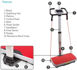 Vibration Platform Trainer Fitness Machine