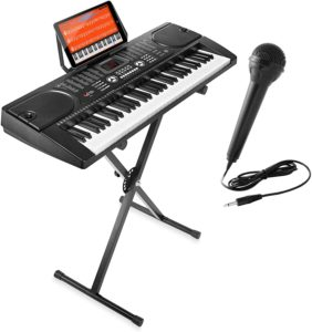 Hamzer 61-Key Digital Music Piano Keyboard with Microphone