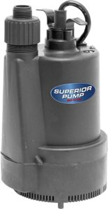 Superior 91330 1/3 HP Thermoplastic Submersible Utility Pump